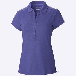 Columbia Button Up Omni-wick Polo Top Shirt